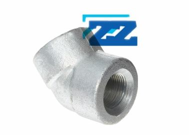 "45 Degree Galvanized Steel Pipe Elbow BSPP 3 / 4 "" 3000 # ASME B16 11 /  BS3799"
